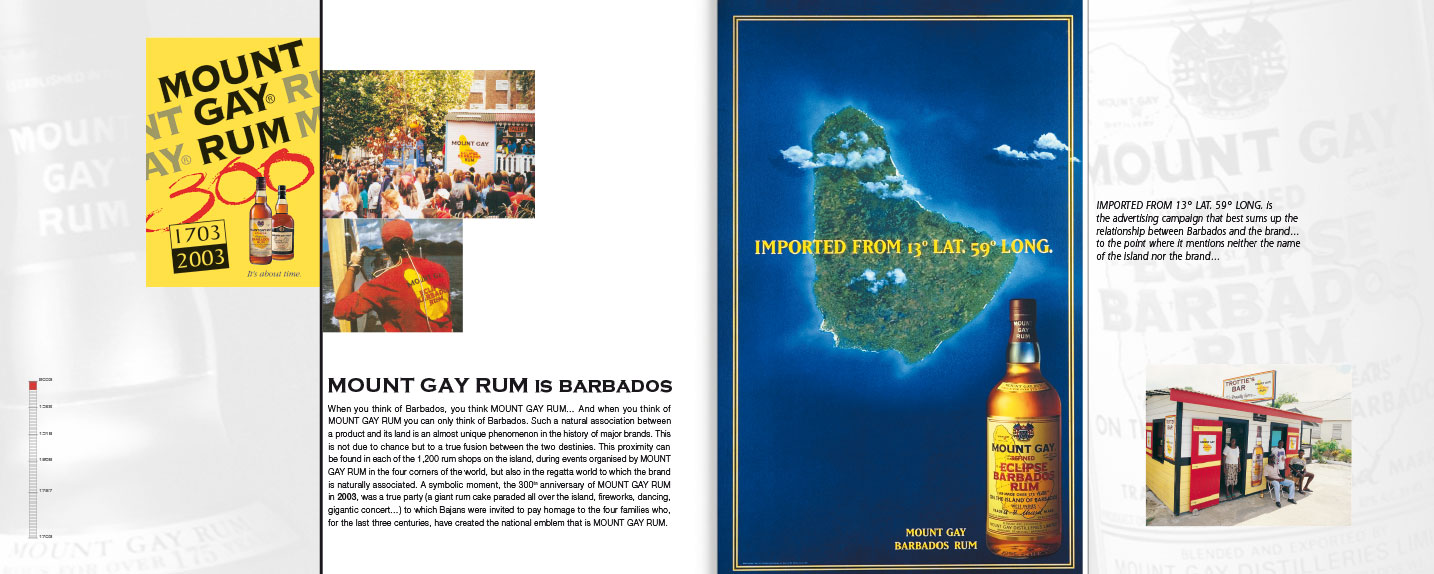 © Thierry Palau & les BDM - Brochures Mount Gay Rum